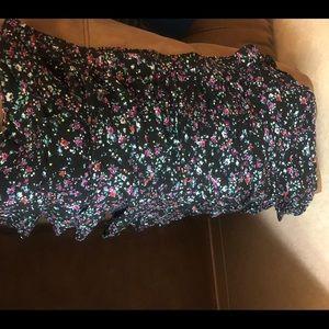 Torrid black floral skater skirt size 5